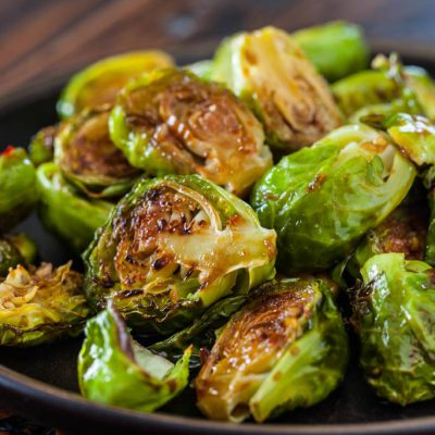 Roasted Brussels Sprouts With Chile Caramel Recipe — Dishmaps
